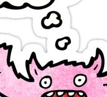 pink furry monster cartoon Sticker
