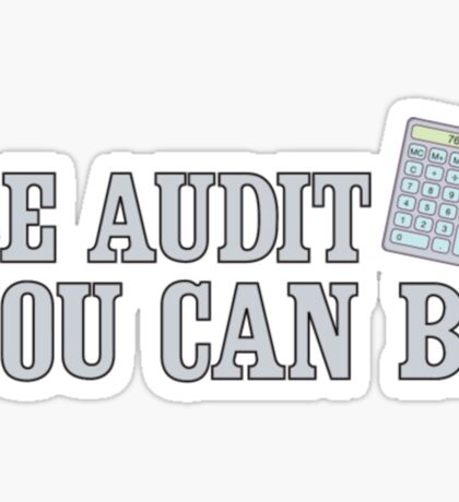 Be Audit You Can Be Funny Accounting Shirts Sticker