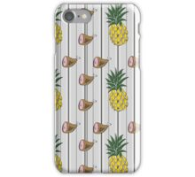 Ham & Pineapple Pinstripe iPhone Case/Skin