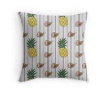 Ham & Pineapple Pinstripe Throw Pillow