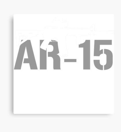 AR15 Gun Shirts Funny AR 15 T Shirts For Men Canvas Print