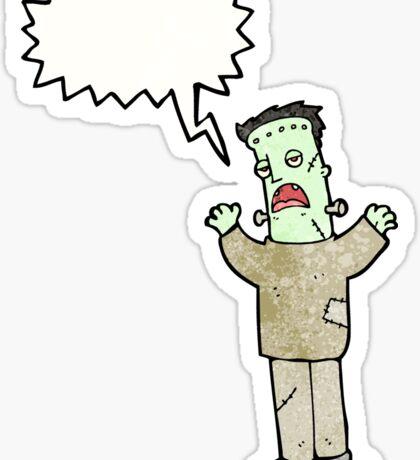 cartoon frankenstein Sticker