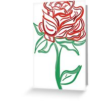 Twisted Painted Tattoo Rose  Greeting Card