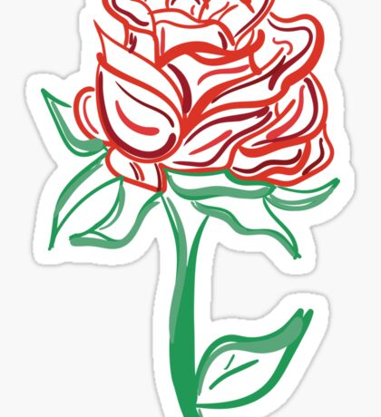 Twisted Painted Tattoo Rose  Sticker