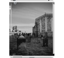 Whitby Abbey and cemetery during the night in North Yorkshire,UK. iPad Case/Skin