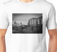 Whitby Abbey and cemetery during the night in North Yorkshire,UK. Unisex T-Shirt