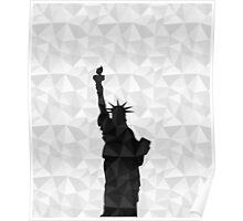 Black on white geometric Statue of Liberty Poster