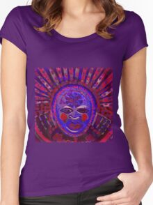 Tribal Face (Blue) Women's Fitted Scoop T-Shirt