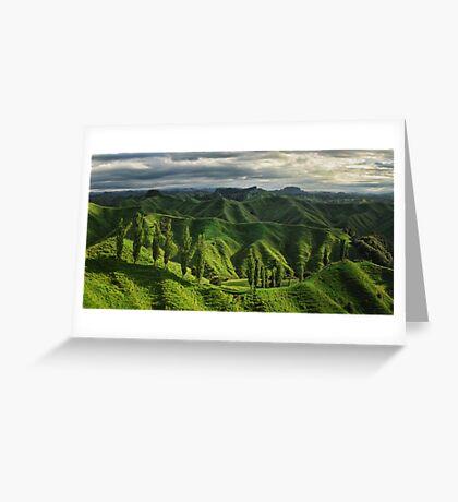 Crumpled Taranaki  Greeting Card