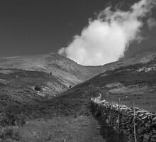 start of climb - Blencathra by DARREL NEAVES