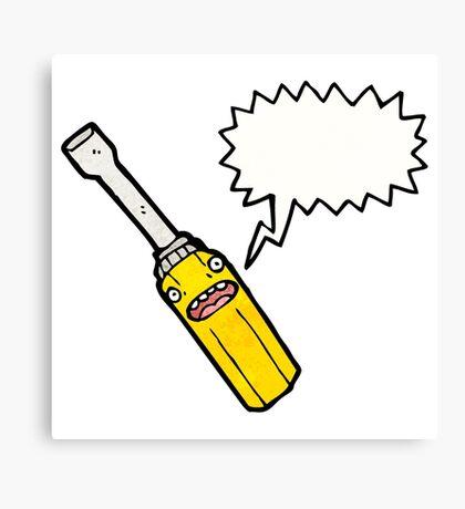 cartoon screwdriver Canvas Print