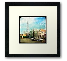 The Shard and The Thames - London Framed Print