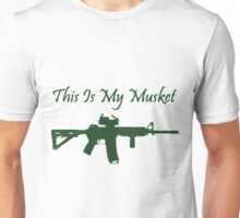 This Is My Musket AR15 AR 15 Shirts Funny Unisex T-Shirt
