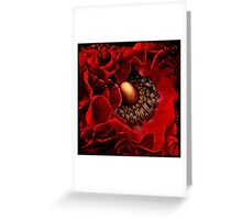 Red and Black  Greeting Card