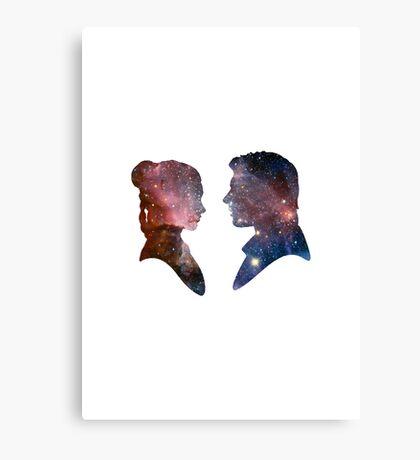 Han and Leia - Galaxy Canvas Print
