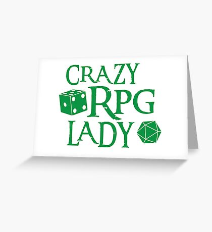 CRAZY RPG Lady Greeting Card