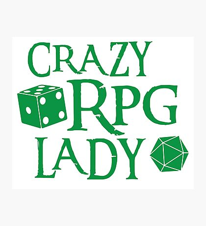 CRAZY RPG Lady Photographic Print