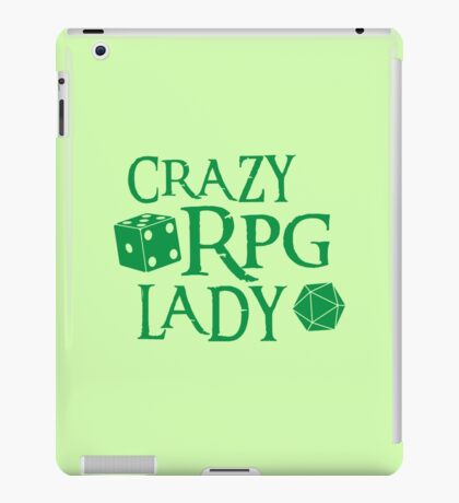 CRAZY RPG Lady iPad Case/Skin