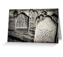 Tomb stones  Greeting Card