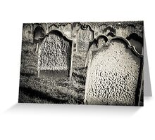 Tomb stones  Greeting Card