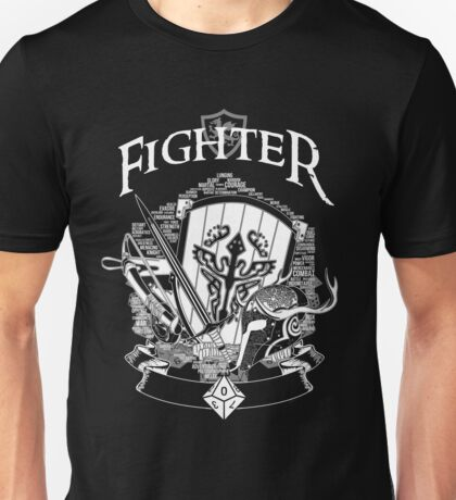 RPG Class Series: Fighter - White Version Unisex T-Shirt