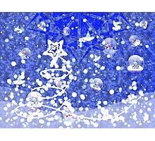 Blue Christmas background Photographic Print
