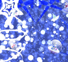Blue Christmas background Sticker