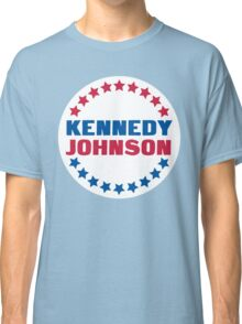 Blue Kennedy with a Red Johnson Classic T-Shirt