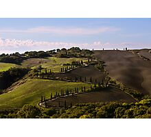 Etruscan Road, La Foce, Val D'Orcia, Tuscany, Italy Photographic Print