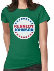 Red Kennedy with a Blue Johnson Womens Fitted T-Shirt