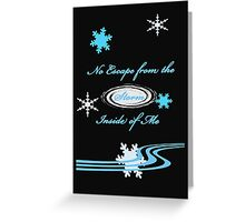 No Escape From the Storm Inside of Me Greeting Card