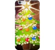 Cartoon Christmas tree background 2 iPhone Case/Skin