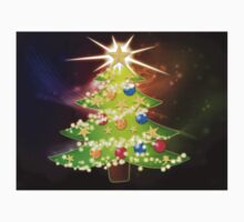 Cartoon Christmas tree background 2 Kids Clothes