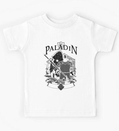 RPG Class Series: Paladin - Black Version Kids Tee