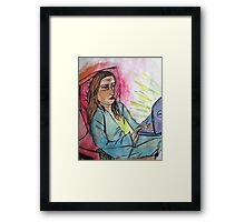 bored on pc  Framed Print