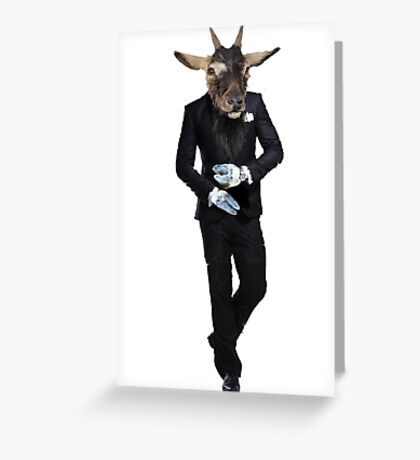 GOAT MAN IN TUXEDO / LICENCE TO KILL Greeting Card