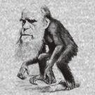 Charles Darwin As An Ape by warishellstore