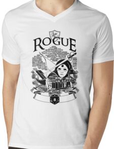 RPG Class Series: Rogue - Black Version Mens V-Neck T-Shirt