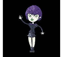 waving vampire girl Photographic Print