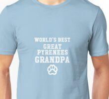 World's Best Great Pyrenees Grandpa Unisex T-Shirt