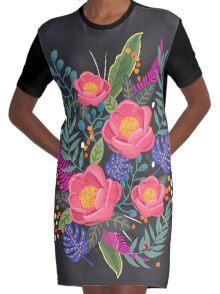 Night Blossom art print Robe t-shirt