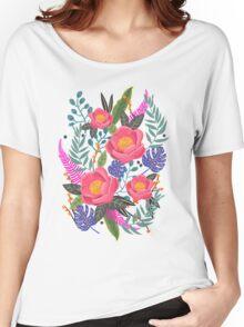 Night Blossom art print T-shirt femme coupe relax