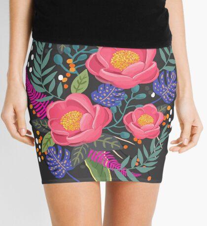 Night Blossom art print Mini Skirt