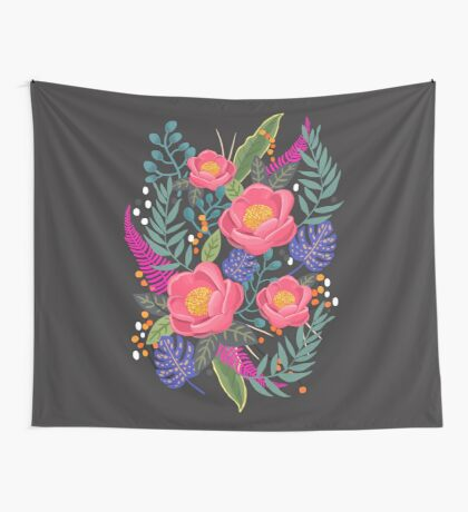 Night Blossom art print Wall Tapestry