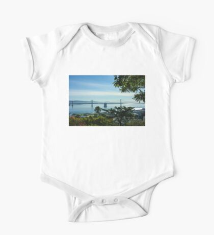 That Other Bridge in San Francisco - Bay Bridge Framed by Trees One Piece - Short Sleeve