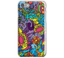 Psychedelic jungle pattern iPhone Case/Skin