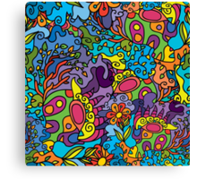 Psychedelic jungle pattern Canvas Print