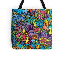 Psychedelic jungle pattern Tote Bag