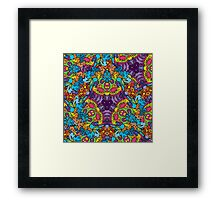 Psychedelic jungle kaleidoscope ornament 30 Framed Print