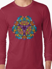 Psychedelic jungle kaleidoscope ornament 30 Long Sleeve T-Shirt